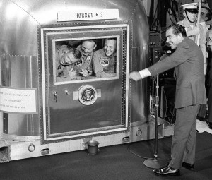 Apollo 11-10  President Nixon jokes with astronauts