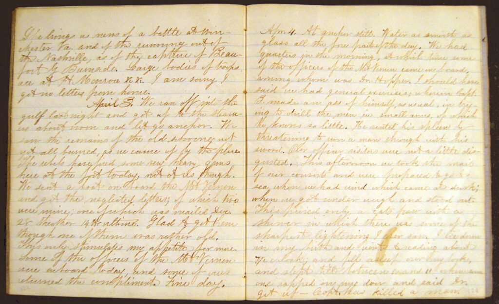 Ezra Pray Journal 4Apr1862