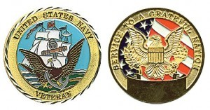 Coin - Navy Veteran