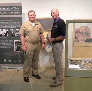 Captain Ted Triebel and Captain Henry Hendrix tour the Cold War Gallery