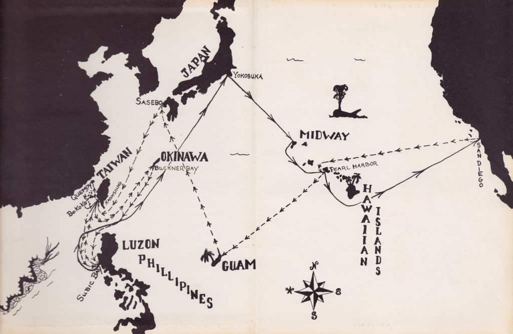 Halsey Powell 1958 Cruise Book - Map
