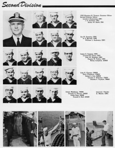 Second Division, USS Halsey Powell, from 1959-1960 Cruise Book