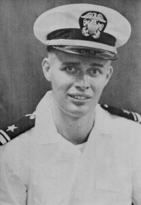 LTJG George Stewart from the 1958 USS Halsey Powell Cruise Book