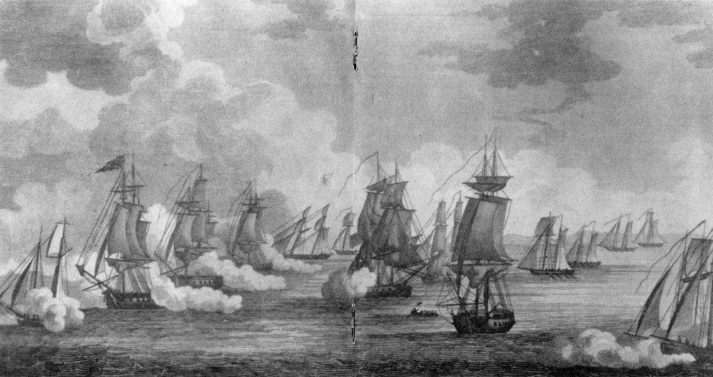 Battle of Erie, Printed by Sam'l Maverick, N.Y., Engraved by P. Maverick