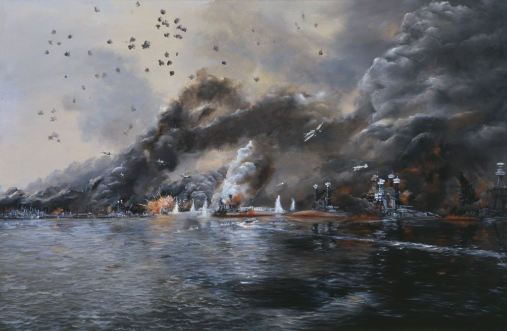 """Battleship Row in Flames,"" John Hamilton"