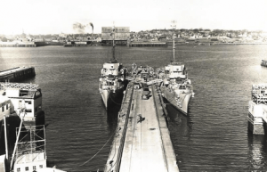 USS Foss and  USS Maloy Supplying Power to Portland, Maine in 1947-48