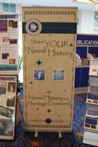 The new NHHC COD exhibit displays.