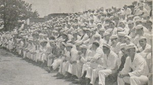 First Base Line Crowd, May 1943 (HRNM Photo)