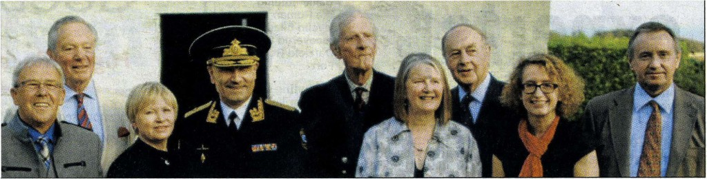 Admiral Alexander Zhurkov and his wife Svetlana pose for a photo with members of the John Paul Jones Birthplace Museum Trust (Dumfries News, 19 SEPT 2014)