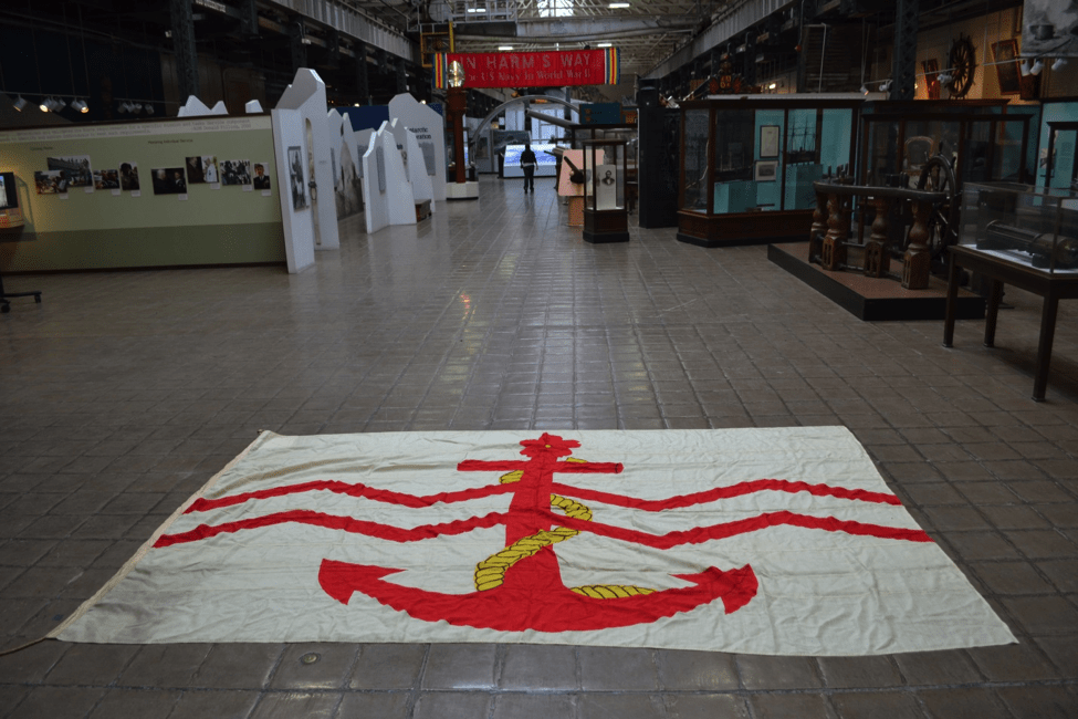 Flag image taken inside the National Museum of the United States Navy (Photo by Matthew Eng/Released)