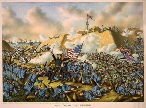 Capture of Fort Fisher by Union troops, by Kurz & Allison