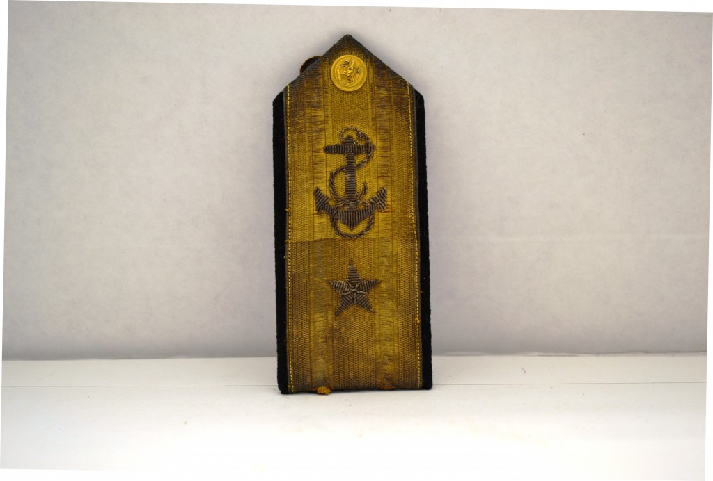 Vanguard Shoulder Boards, Rear Admiral (Lower Half). Photo by Emily Pearce.