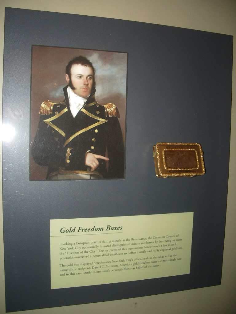 Freedom Box on display in the Winterthur Museum, DE