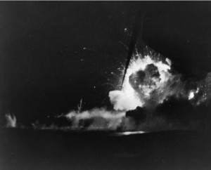Explosion of USS Bismarck Sea. NHHC Photo # 80-G-335103