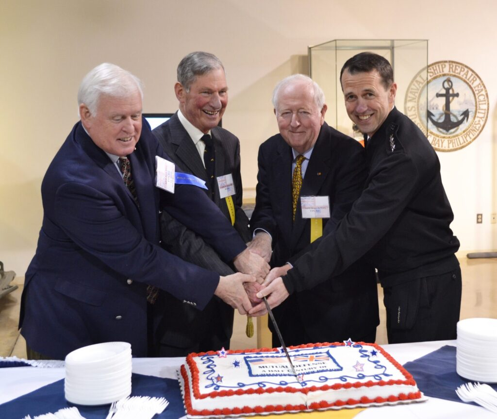 (Left to Right) Admiral Rich Mies, VADM Sir Robert Hill, Admiral Bruce DeMars, Admiral John M. Richardson