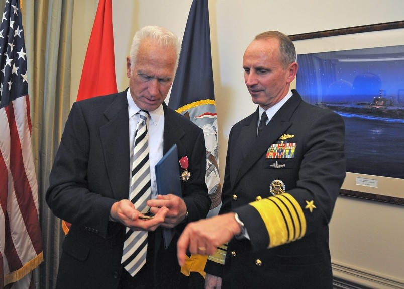 Hebert G. Claudius, Jr. and Admiral Jonathan Greenert, USN (Stripes.com)