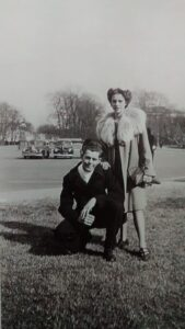 O. Talmadge Spence & Willette Spence (mother), Washington, D.C. Late 1945.