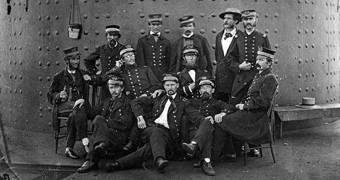 USS Monitor Officers (USN Photo)
