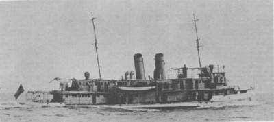 Underway on the Yangtze River in 1932 Photo from the Dictionary of American Naval Fighting Ships (Image courtesy Navsource)