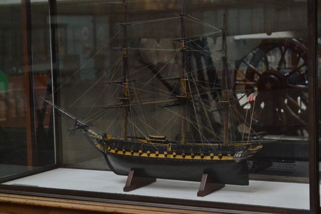 Constitution model on display at the National Museum of the United States Navy (NHF Photo/Matthew Eng/Released)