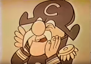 Cap'n Crunch as he appeared in his original 1963 Quaker Oats Commercial (via Youtube Screengrab)
