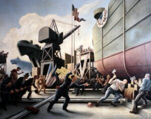 """Cut the Line,"" by Thomas Hart Benton (1944)"