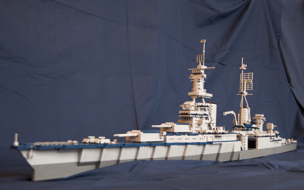 Dave Colamaria's LEGO USS Indianapolis Model (Photo by Dave Colamaria/NHF/Released)