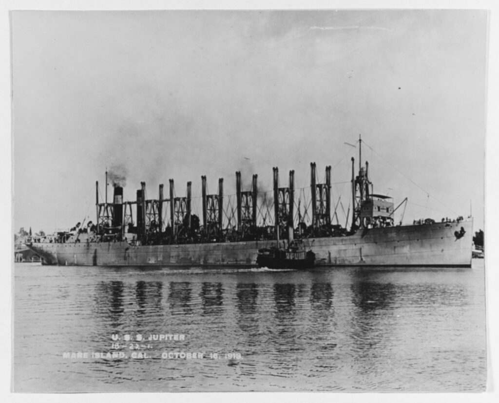 Off the Mare Island Navy Yard, California, 16 October 1913. U.S. Naval History and Heritage Command Photograph. (NH 52365)