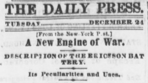 Cincinnati Daily Press (Cincinnati, Ohio), December 24, 1861, Page 4, Image 4, Col. 1-2. (Library of Congress)