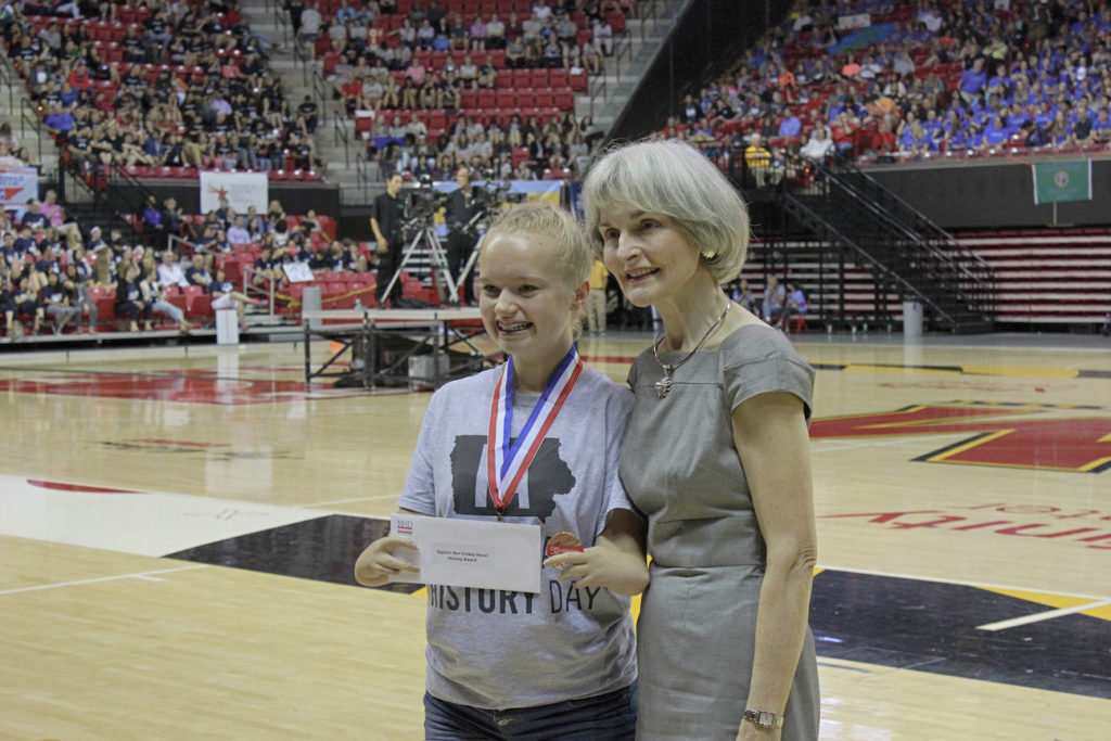 Senior Division Winner Allie Tubbs and Rosemary Coskey (Photo by NHF/Matthew Eng/Released)