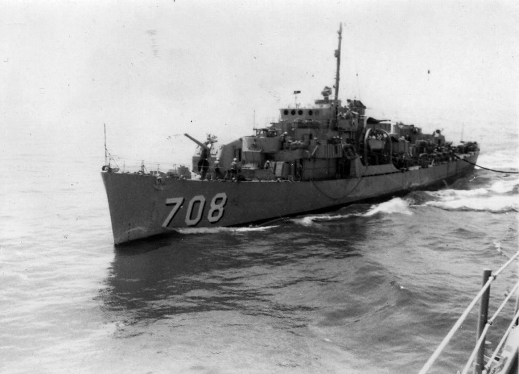 USS Parle (DE 708) The last in service (via NAVSOURCE)