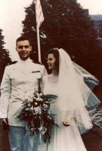 Leighton with wife Helen at their wedding in Jamestown, RI, on 5 July 1947 (Leighton Family)