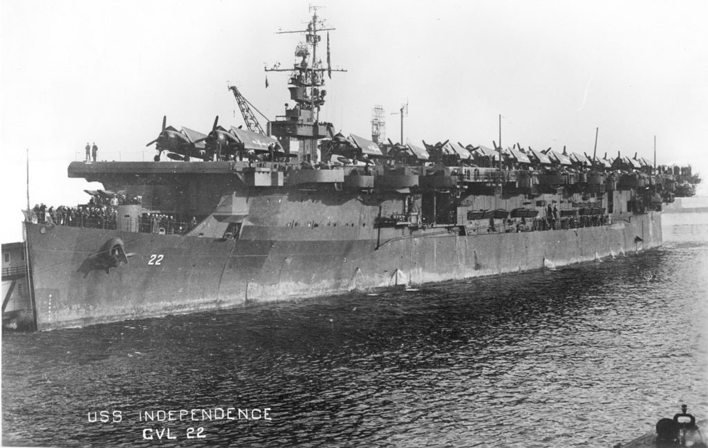 CVL-22 home from the war (Photo: US Navy from NARA College Park, MD)