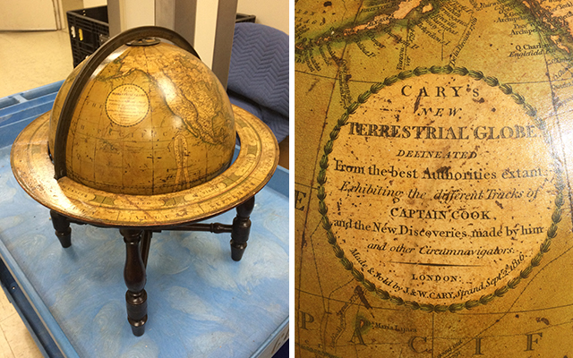 Cary Globe Images. The Globe was formerly housed in the Tingey House, also known as the CNOs residence. (NHF Photo)